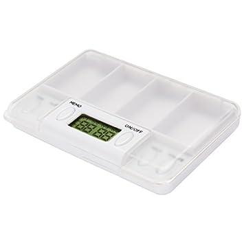 eDealMax de Tiempo Digital de la caja de presentación Para las píldoras Contenedor de almacenamiento Caso