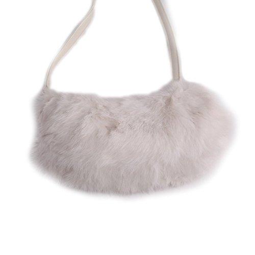 24ba7244b URSFUR Women Warm Hand Muff Genuine Rabbit Fur Bag Purse Winter Hand Warmer