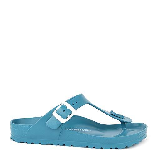 Birkenstock Slipper Gizeh Turquoise 38 (Woman Sandals Heels)