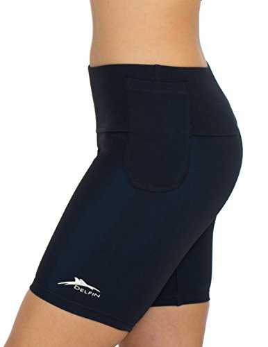 Medium Delfin Spa - Delfin Spa Women's Mineral Infused Exercise Shorts, Black, X-Large