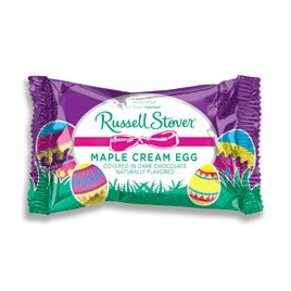 Cream Eggs - Russell Stover Dark Chocolate Maple Cream Egg, 1 oz.
