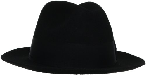 Stacy Adams Men's Felt Fedora, Black, Large