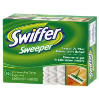 Swiffer Dry Sweeping Disposable Cloths 16 ct (Pack of 12), Natural, 12