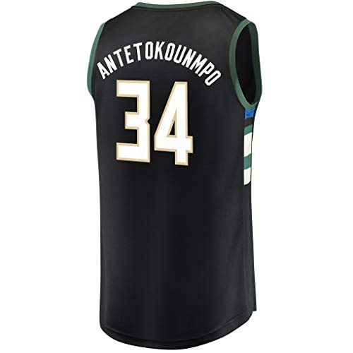 Ao Fer Nema Youth_Giannis_Antetokounmpo_Black_Basketball Jersey Fans Replica Game Jersey Quality Sportswear