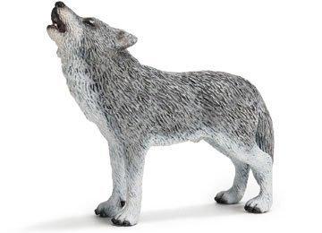 Schleich Howling Wolf Toy Figure