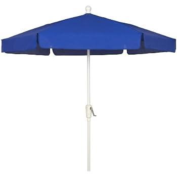 Exceptionnel FiberBuilt Umbrellas Garden Umbrella, 7.5 Foot Pacific Blue Canopy And  White Pole