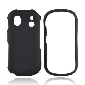 - Importer520 Rubberized Snap-On Hard Skin Case Cover for Samsung Intensity 2 II U460 Phone (Black)