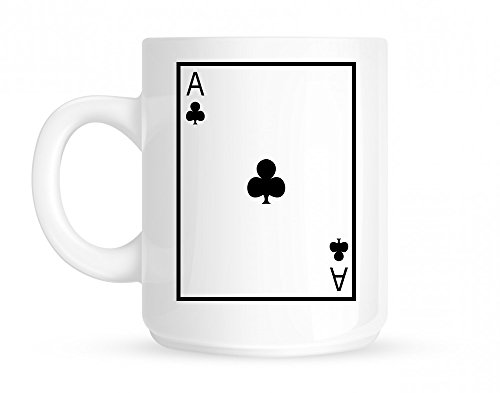 Ace Of Clubs Coffee Mug White