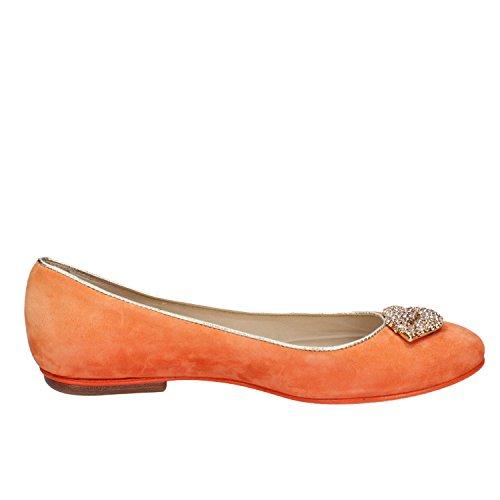 37 AX900 donna DANIELE EDDY arancione scarpe ballerine camoscio 4qR8vpgBwB