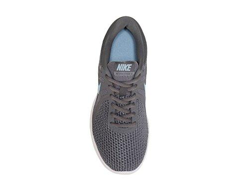 NIKE Women's Revolution 4 Wide Running Shoe B075ZYRSKW 7 D US|Gunsmoke/Ocean Bliss/Dark Grey/White