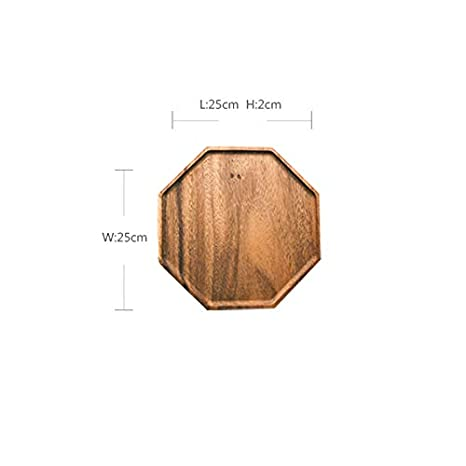 Acacia Wood Tray Tea Tray Two Shapes JSSFQK Size : A Suitable For Home Can Place Fruit Snacks And Other Items