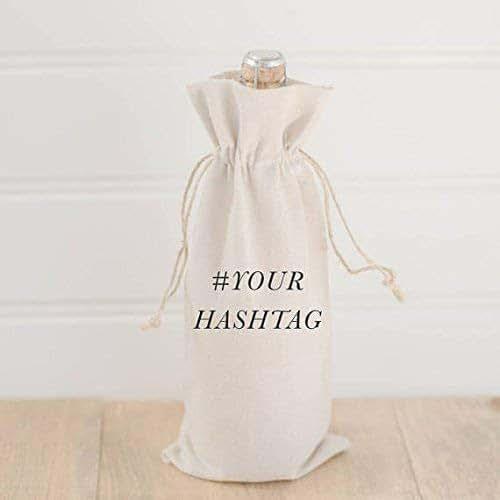 Amazon.com: Wine Bag, Personalized Hashtag, Handmade In