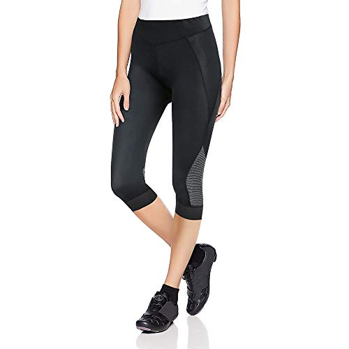 (Women's Padded 3/4 Cycling Tights, Foot Webbing Split-Joint Design)