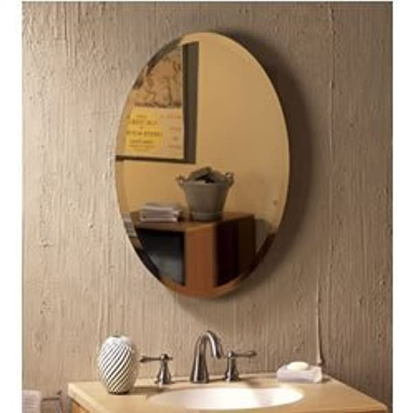 Jensen 52wh184pv Metro Oval Frameless Medicine Cabinet With Beveled Mirror 21 Inch By 31 Inch Home Improvement Amazon Com
