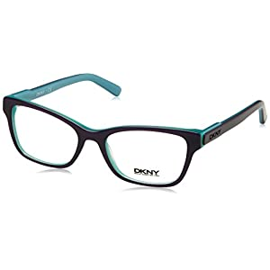 DKNY DY4650 Eyeglass Frames 3638-51 - Top Violet On Aqua Green
