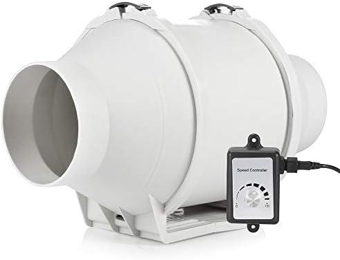 Hon&Guan Extractor de Aire Silencioso 100mm con Controlador de ...