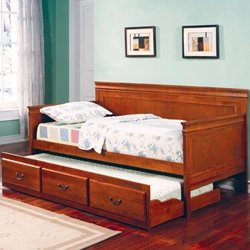 Coaster Furniture Oak Daybed (Coaster Louis Philippe Collection 300036OAK Twin Size Daybed in Oak)