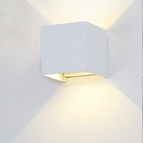 Hallway sconces wall lighting amazon netboat wall sconces 7w wall light waterproof led ip65 with adjustable beam angle design 2700k warm white lighting for hallway staircase garden wall white aloadofball Images