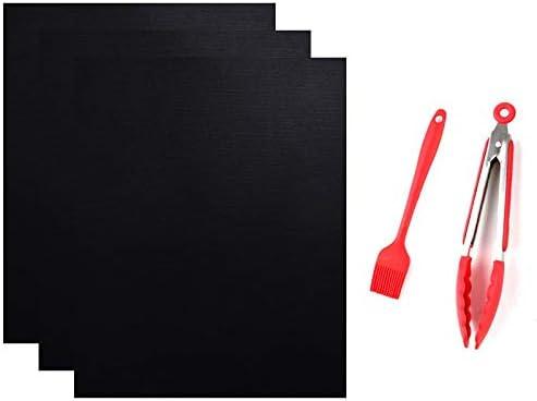 HKYMBM Parrilla Mat, palillo de la Estera no Barbacoa Grill, Grill Reutilizable Mats fácil de Limpiar Barbacoa Accesorios para Asar de Gas, carbón de leña, Parrilla eléctrica - 13 * 15.75 Pulgadas