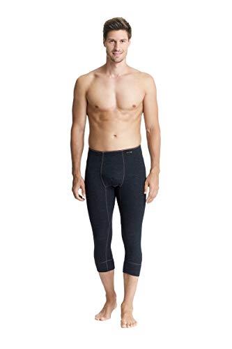 con-ta Thermo 3/4 Lange Hose mit Eingriff, Lange Unterhose für Herren, wärmende Unterwäsche mit natürlicher Baumwolle, Herrenbekleidung, Farben: Marine, Schwarz, Größen: 5-10