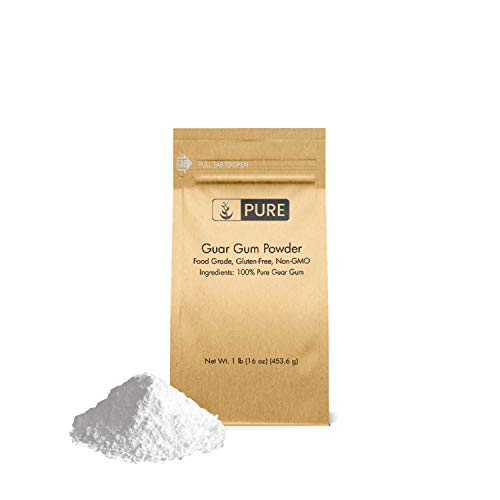 Guar Gum Powder (1 lb.) by Pure Organic Ingredients, Food Grade, Gluten-Free, Non-GMO, Thickening Agent