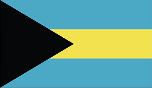 JMM Industries Bahamas Flag Vinyl Decal Sticker Bahamian Car Window Bumper 2-Pack 5-Inches by 3-Inches Premium Quality UV-Resistant Laminate PDS380
