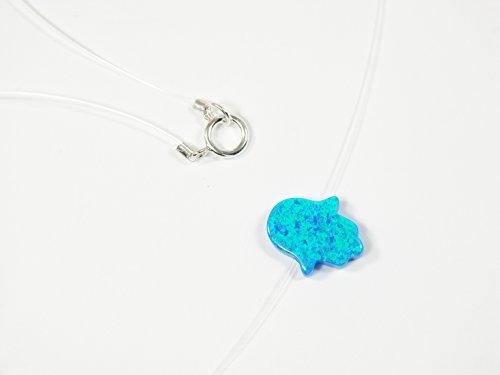 Fashion CZ Floating Illusion Invisible Line Translucent Fishing Line Necklace