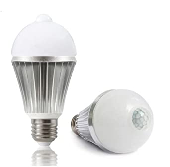 60 Watt LED Daylight Bulb With Motion Sensor E26/E27 Socket Automatic LED  Indoor Lighting