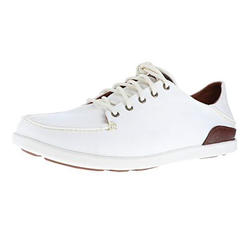 OLUKAI New Men's Manoa Sneaker Off White/Toffee 8 ()