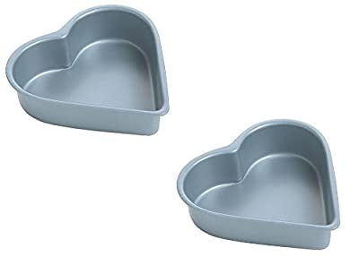 "Set of 2 Mini Donut Hole Makers Heart Muffin Pan Nonstick 4"" Bun Cake Mold"