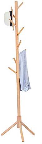 ハンガー型ユニット ソリッドウッドコートラックの床のタイプの家の服ラック屋内バッグラックのベッドルームシンプルなアセンブリハンガー (色 : A)