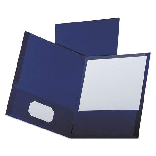 Linen Finish Twin Pocket Folders, Letter, Navy, 25/Box, Sold as 25 Each