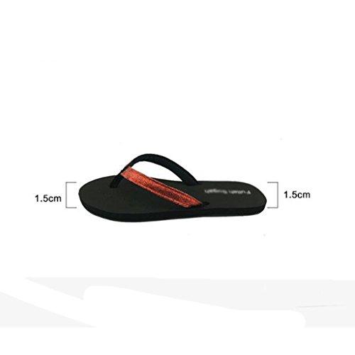 con ciabattine 5 UK 4 rossi sandali Sandali e rossi Pantofole dimensioni e OSv1En