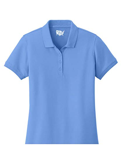 One Country United Ladies Core Classic Pique Short Sleeved Golf Polo Carolina Blue 2XL ()