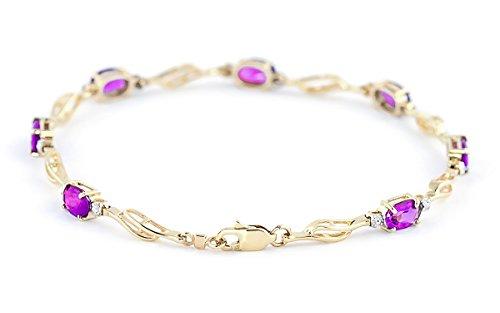 QP joailliers naturel & Diamant Rose Bracelet en or 9ct Topaze, 3,38CT Coupe ovale-4277y
