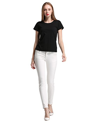 Alice & Elmer Stretch Taille Haute Skinny,Jeans Femme Blanc