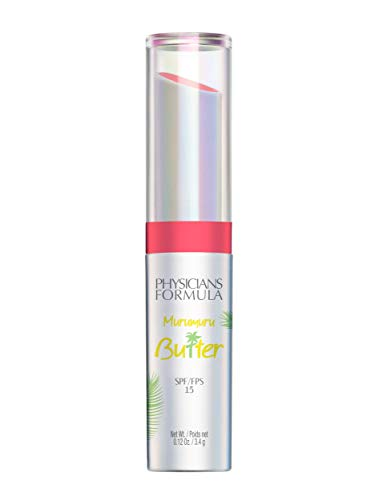 Physicians Formula Spf 15 Murumuru Butter Lip Cream, Flamingo Pink, 0.12 Ounce