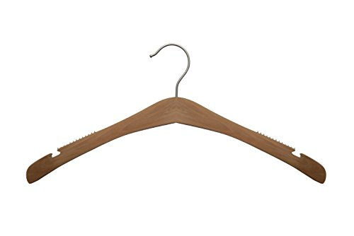 NAHANCO 30017 Signature Wood Hangers, Low Gloss Natural, 16 3/4