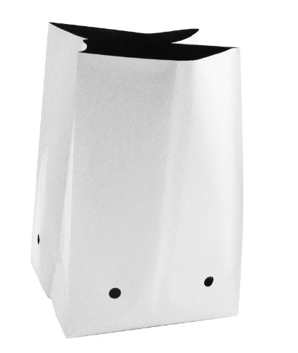 ViagrowTM 10 gallon Grow Bag, 25 - White Grow Plastic