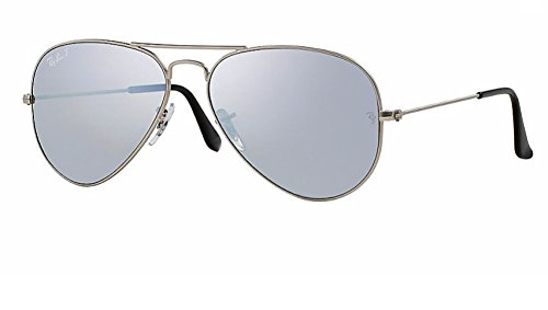 Ray Ban Rb3025 Metal Aviator Limited Edition 019/w3 Silver / Silver Mirror Polarized Lenses Unisex Sunglasses - Limited Ban Ray