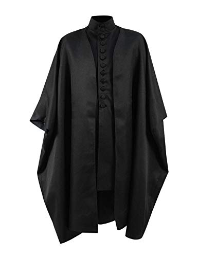 Skycos Mens Professor Severus Halloween Cosplay Costume Black Cape Jacket Outfit (Women-M, Black Full Set) for $<!--$75.99-->
