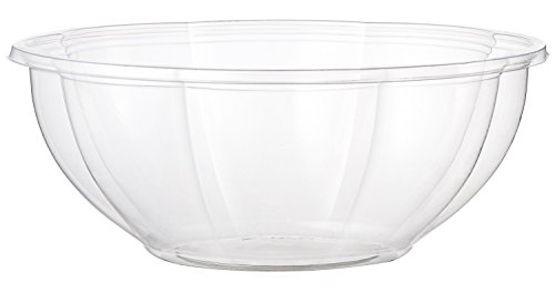 World Centric's 100% Biodegradable, 100% Compostable 24 Ounce Clear PLA Salad Bowl (Case of 600) (Pla Bowl)