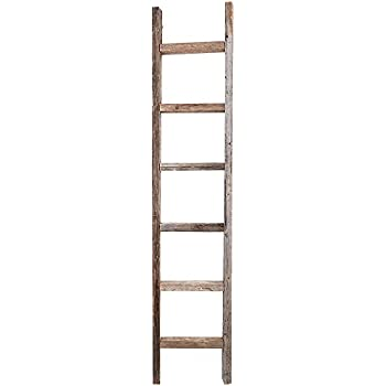 Amazon Com Decorative Ladder Reclaimed Old Wooden
