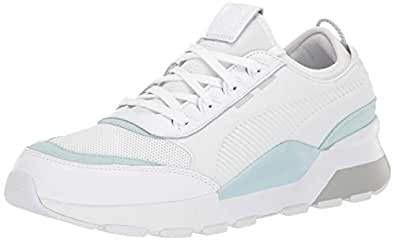 PUMA Men's RS-0 Sneaker, White-Light Sky, 4 M US