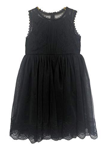Bow Dream Lace Vintage Flower Girl's Dress Black 14 -