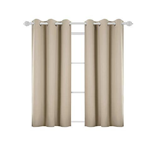 Deconovo Room Darkening Thermal Insulated Blackout Grommet Window Curtain Panel for Living Room, Beige,42x63-Inch,1 Panel by Deconovo (Image #8)'