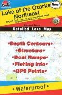 Lake of the Ozarks Northeast Waterproof Fishing Map (Missouri Fishing Map Series, L160)
