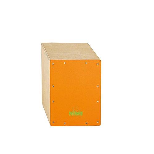 Nino Percussion NINO950OR 13-Inch Birch Cajon, Orange Frontplate