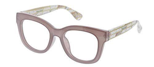 Glass Stage (Peepers Women's Center Stage Luxe Reading Glasses, 51.6 mm, Gray/Marble)