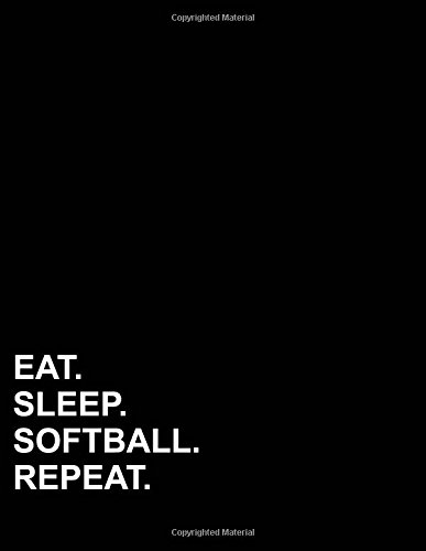 Eat Sleep Softball Repeat: Four Column Ledger Cash Book, Accounting Ledger Notebook, Business Ledger Book, 8.5